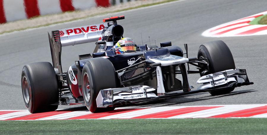 Pastor Maldonado on his way to his maiden win