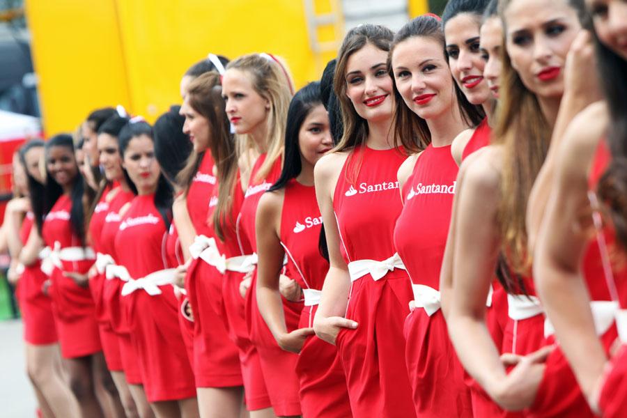 Grid girls in Barcelona