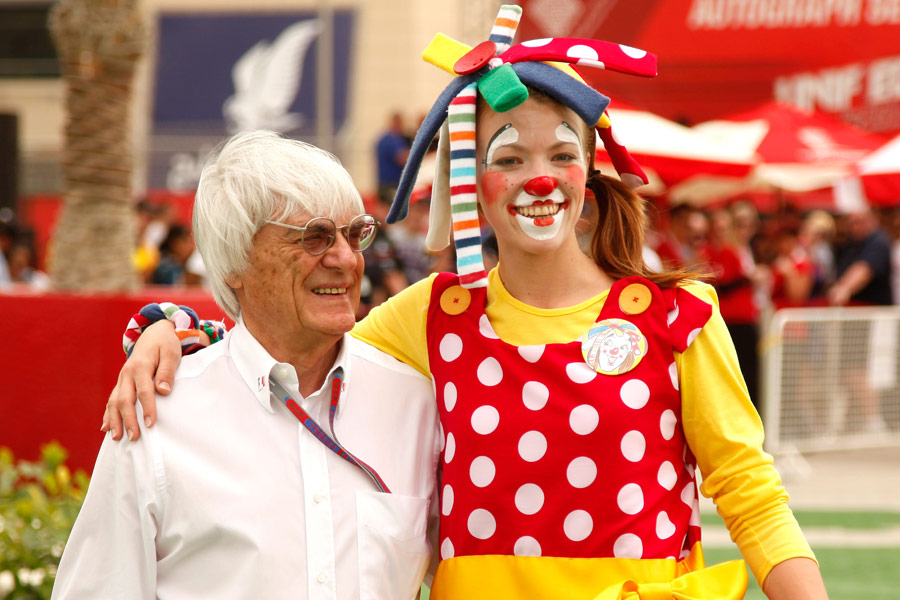 Formula One supremo Bernie Ecclestone and friend