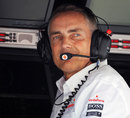 Martin Whitmarsh on the McLaren pit wall