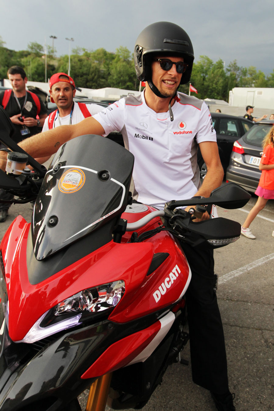 Jenson Button prepares to leave the circuit