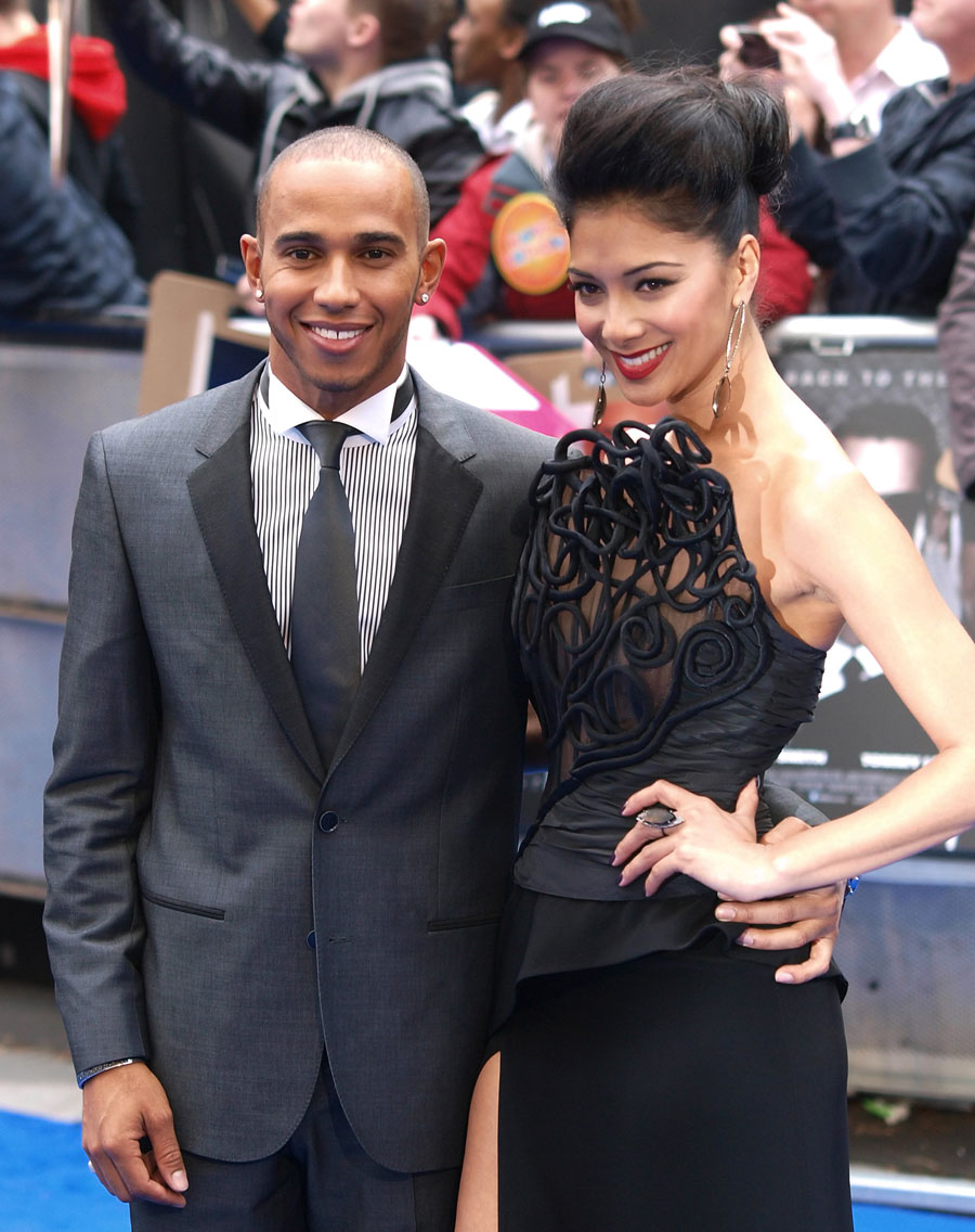 Lewis Hamilton with his girlfriend Nicole Scherzinger at the UK premiere of Men in Black III
