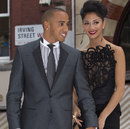 Lewis Hamilton and girlfriend Nicole Scherzinger at the premier of Men in Black 3