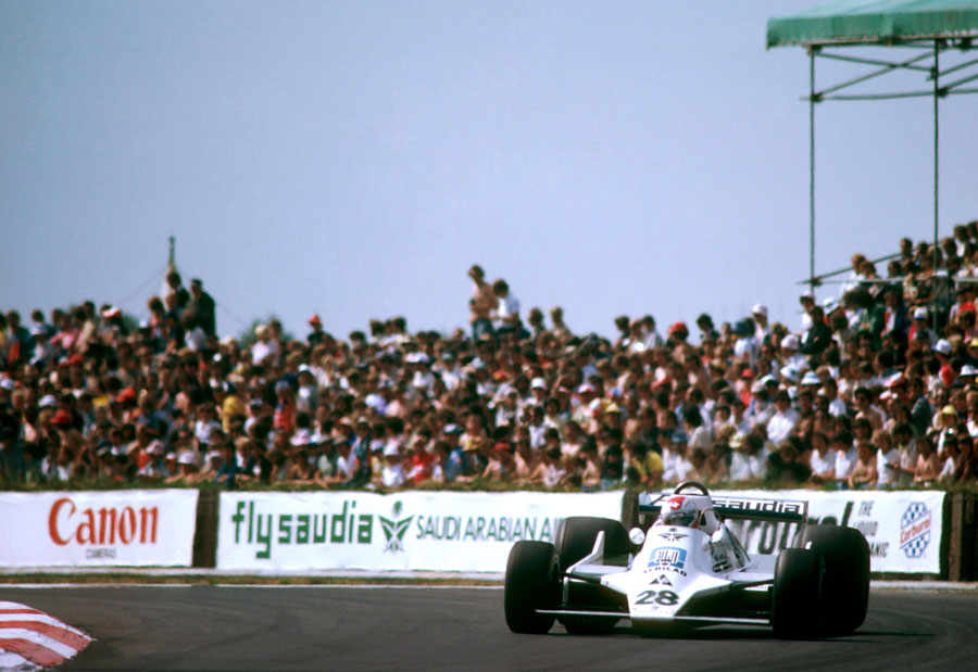 Clay Regazzoni on his way to Williams' first grand prix victory