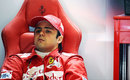 Felipe Massa takes a breather in the Ferrari garage