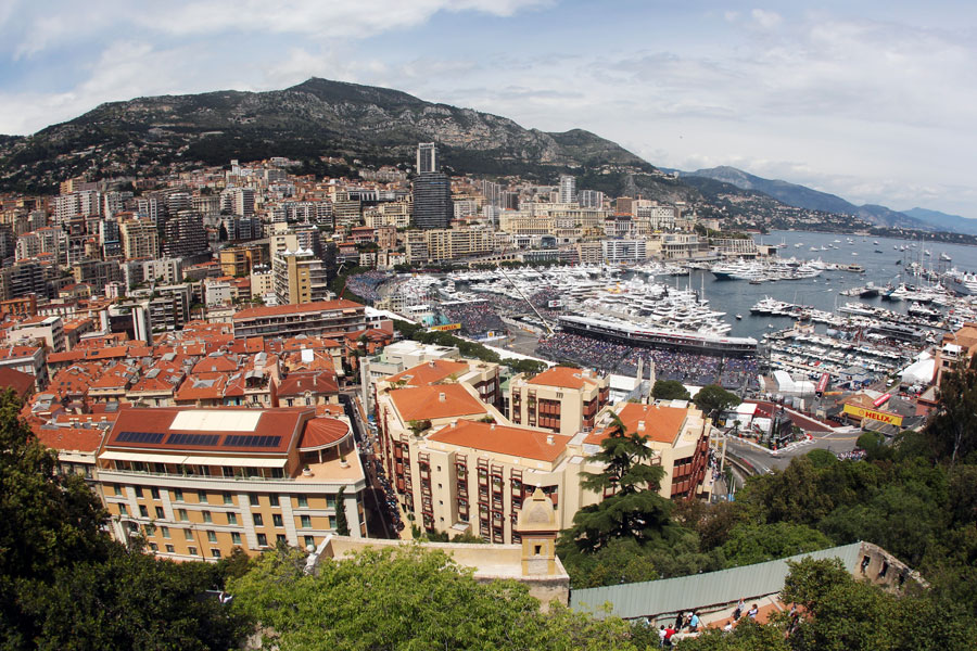 A general view of the harbour at Monaco
