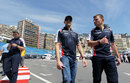Pastor Maldonado walks the track on Wednesday