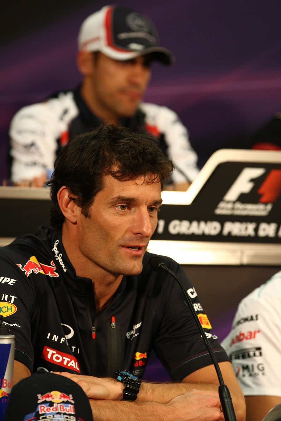Mark Webber in the driver press conference
