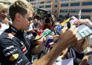 Sebastian Vettel meets the fans on Wednesday afternoon