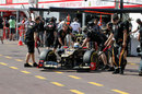 Romain Grosjean pits