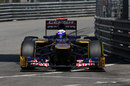 Daniel Ricciardo takes a tight line during practice