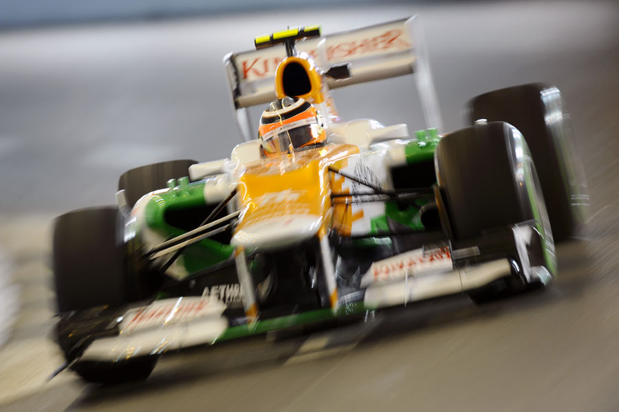 Nico Hulkenberg in action during FP2