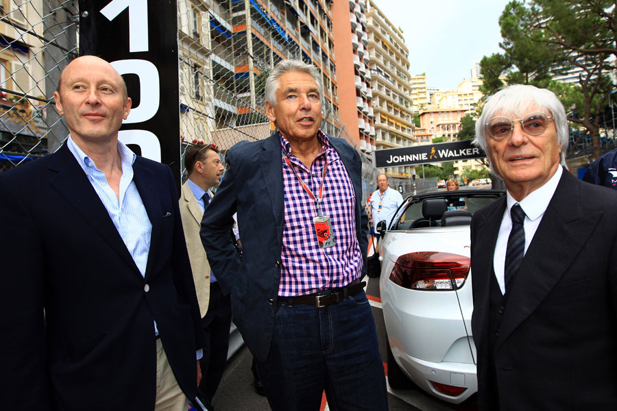 Bernie Ecclestone with CVC Capital Partners on the grid on Friday