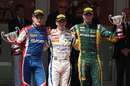 The top three on the podium after the GP2 feature race
