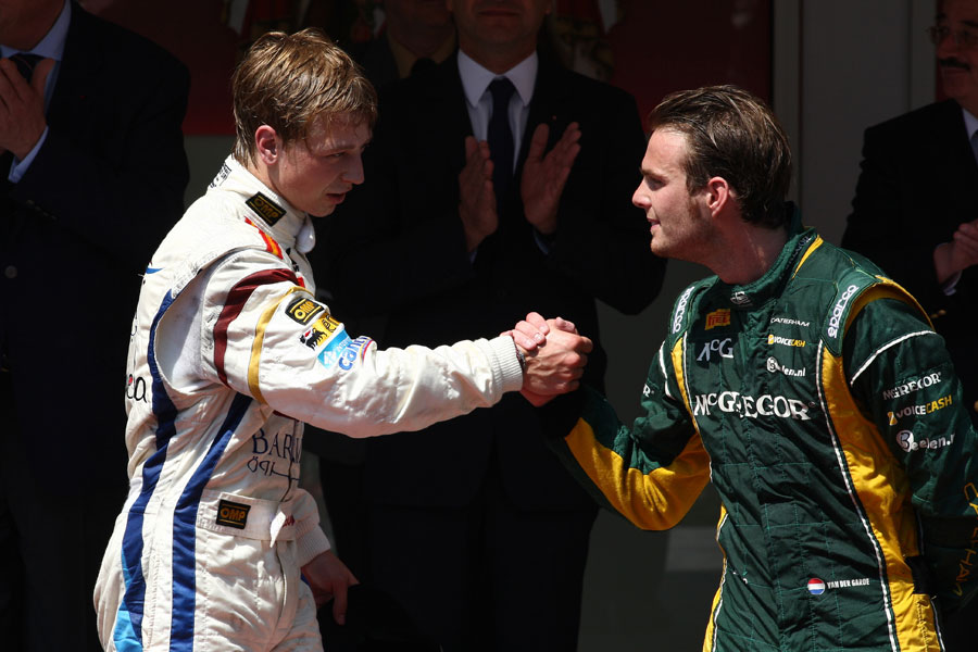 Johnny Cecotto celebrates with Giedo van der Garde