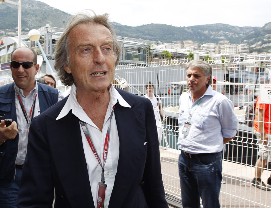 Ferrari president Luca di Montezemolo makes a flying visit to the paddock on Friday