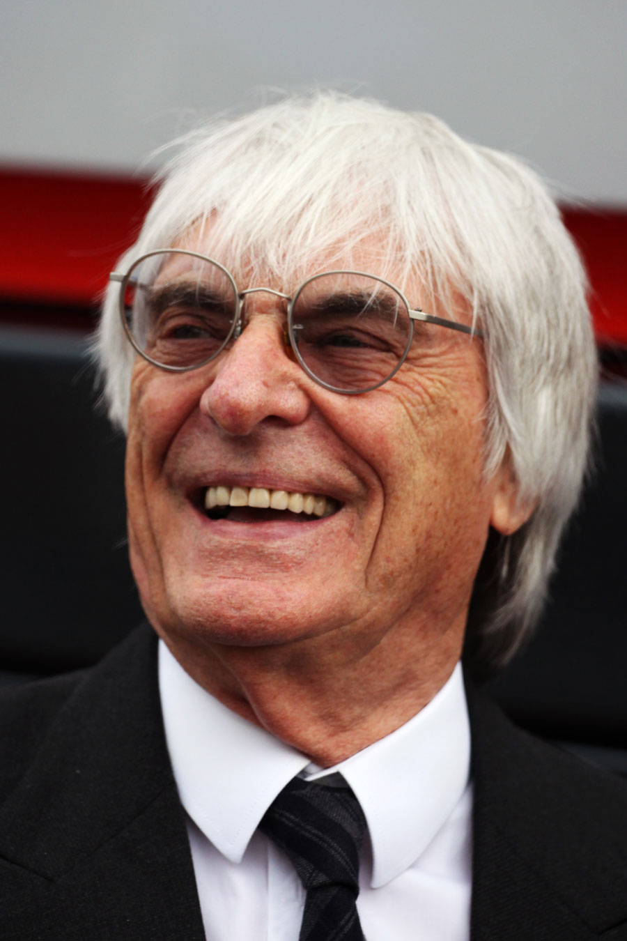 Bernie Ecclestone in the paddock between meetings on Friday