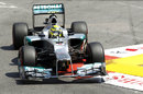 Nico Rosberg attacks the swimming pool chicane