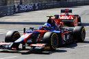 Jolyon Palmer leads Max Chilton