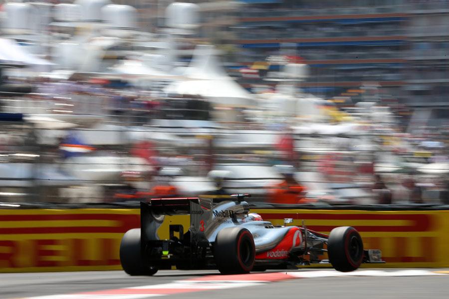 Jenson Button exits the Nouvelle chicane