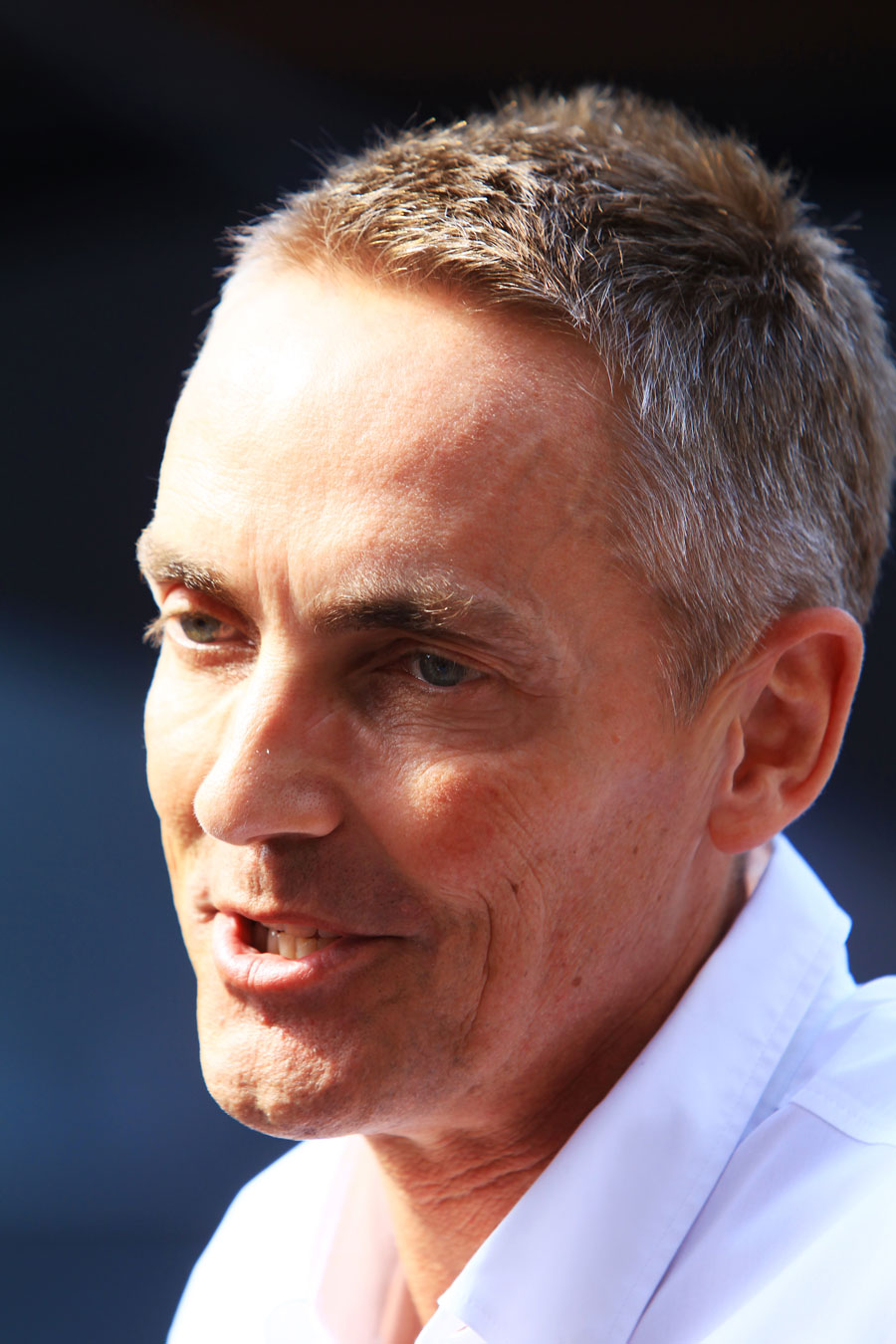 Martin Whitmarsh answers questions from the press