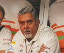 Vijay Mallya looks on in his first outing of the season