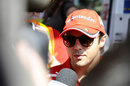 Felipe Massa faces questions from the media on Thursday