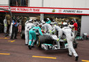 Michael Schumacher retires from the race