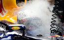 Sebastian Vettel keeps cool in the cockpit