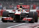 Lewis Hamilton on a super-soft tyre lap