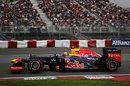 Mark Webber on a supersoft tyre run