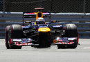 Sebastian Vettel attacks the circuit on super-soft tyres