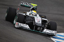Nico Rosberg out on track