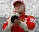 Kimi Raikkonen celebrates his title in style