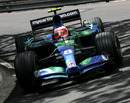 Rubens Barrichello rounds Mirabeau