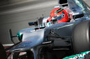 Michael Schumacher aims for an apex
