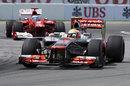 Lewis Hamilton leads Fernando Alonso