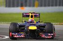 Mark Webber aims for an apex