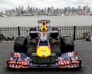 A Red Bull in front of the Manhattan skyline