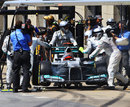 Michael Schumacher retires with a jammed DRS