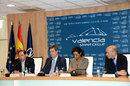 Officials at the European Grand Prix presentation in Valencia