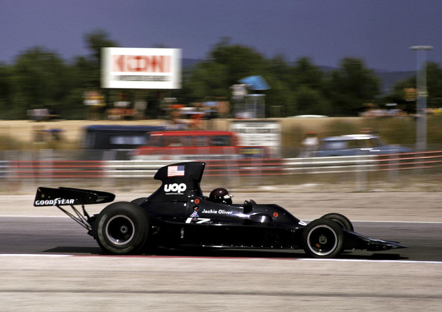 Jacky Oliver at speed in the Shadow