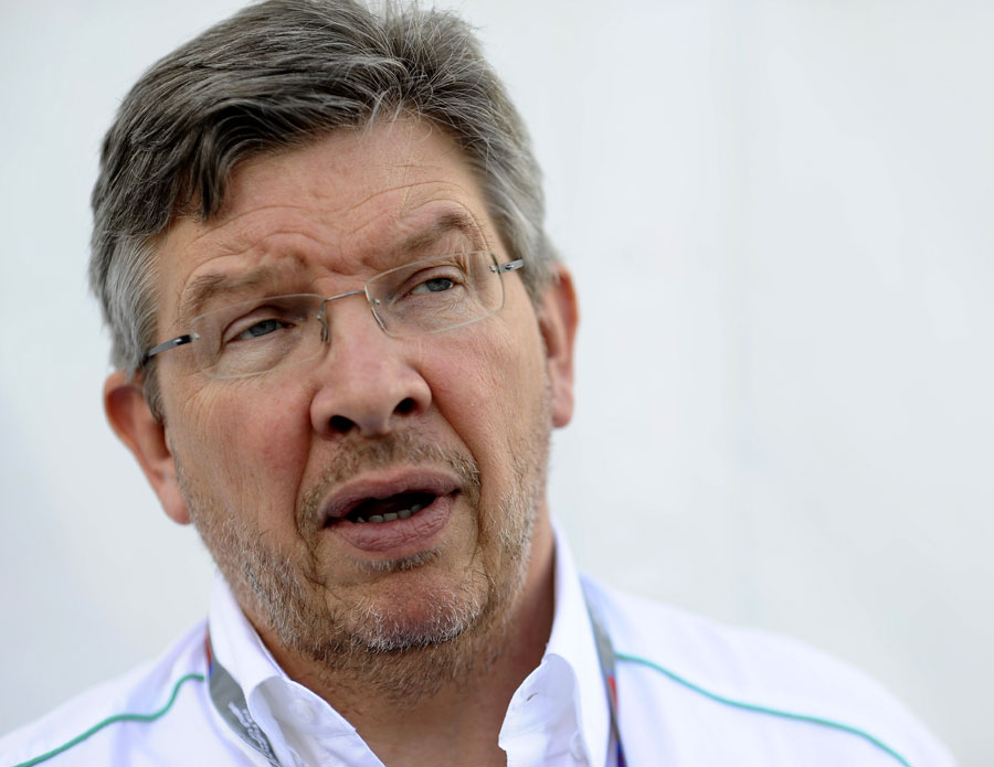 Ross Brawn in the paddock