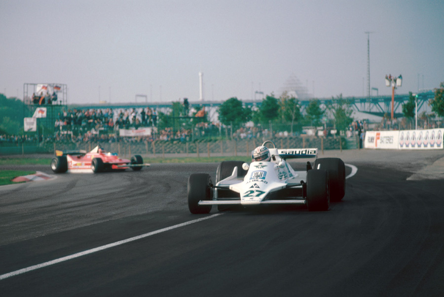 Alan Jones on his way to victory in Canada