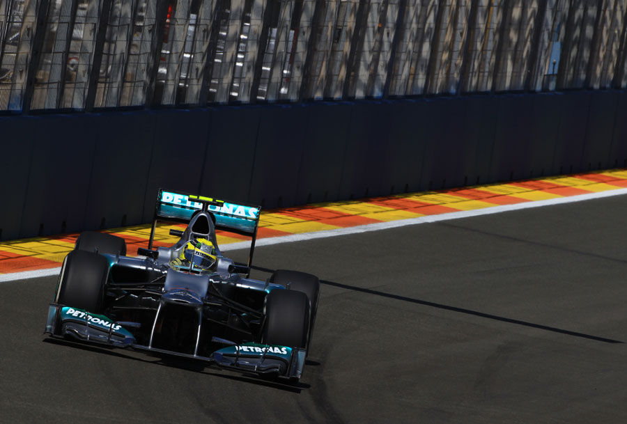 Nico Rosberg at the wheel of the Mercedes
