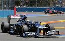 Pastor Maldonado exits turn 13