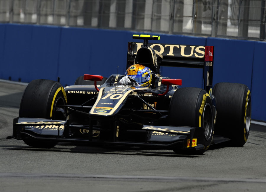 Esteban Gutierrez in action during GP2 qualifying