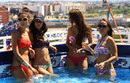 Champagne flows at the Red Bull pool party