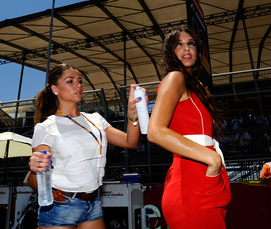 Keeping a Grid Girl cool