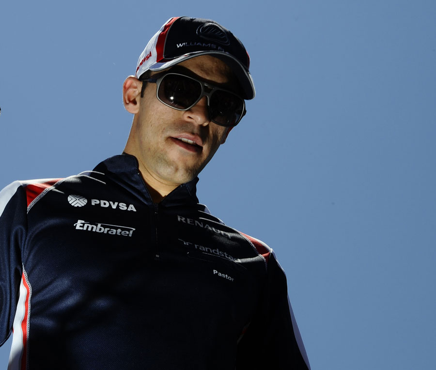 Pastor Maldonado on the drivers' parade